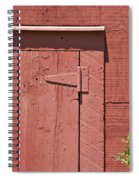 Faded Red Wood Barn Wall Spiral Notebook
