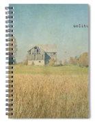 Farm House Solitude Spiral Notebook