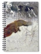 Fox Being Chased Through The Snow  Spiral Notebook