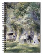 In The Park At Saint-cloud Spiral Notebook