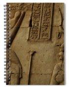 Karnak Egypt Hieroglyphics Spiral Notebook