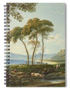 Landscape With Harlech Castle Spiral Notebook