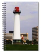 Lions Lighthouse For Sight Spiral Notebook