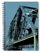 Mississippi River Rr Bridge At Memphis Spiral Notebook