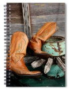 Old Cowboy Boots Spiral Notebook