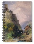 The Castle Of Katz On The Rhine Spiral Notebook