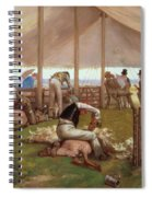 The Sheep Shearing Match Spiral Notebook