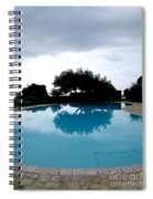 Tree At The Pool On Amalfi Coast Spiral Notebook