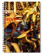 Wild Carrousel Horses  Spiral Notebook