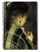 Young Woman With A Small Veil Spiral Notebook