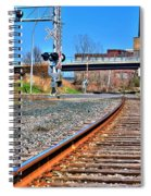 0001 Train Tracks Spiral Notebook