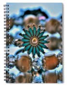 0001 Turquoise And Pearls Spiral Notebook
