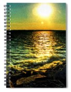 0001 Windy Waves Sunset Rays Spiral Notebook