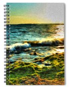 00015 Windy Waves Sunset Rays Spiral Notebook