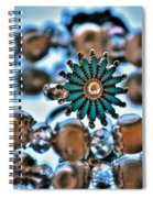 0003 Turquoise And Pearls Spiral Notebook