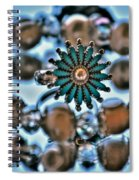 0004 Turquoise And Pearls Spiral Notebook