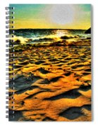 0008 Windy Waves Sunset Rays Spiral Notebook