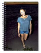 001 A Sunset With Eyes That Smile Soothing Sounds Of Waves For Miles Portrait Series Spiral Notebook