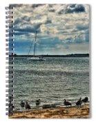 001 On A Summers Day  Erie Basin Marina Summer Series Spiral Notebook
