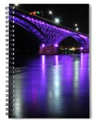 001 Peace Bridge Honoring Breast Cancer 2012 Series Spiral Notebook