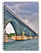 001 Stormy Skies Peace Bridge Series Spiral Notebook