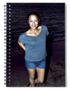 002 A Sunset With Eyes That Smile Soothing Sounds Of Waves For Miles Portrait Series Spiral Notebook