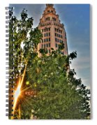 002 Electric Tower At Sunrise  Spiral Notebook