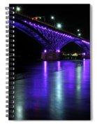 002 Peace Bridge Honoring Breast Cancer 2012 Series Spiral Notebook