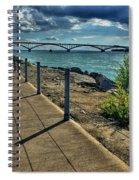 002 Peace Bridge Series II Beautiful Skies Spiral Notebook