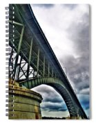 002 Stormy Skies Peace Bridge Series Spiral Notebook