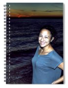 003 A Sunset With Eyes That Smile Soothing Sounds Of Waves For Miles Portrait Series Spiral Notebook