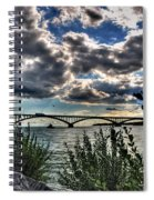 003 Peace Bridge Series II Beautiful Skies Spiral Notebook