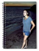 004 A Sunset With Eyes That Smile Soothing Sounds Of Waves For Miles Portrait Series Spiral Notebook