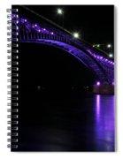 004 Peace Bridge Honoring Breast Cancer 2012 Series Spiral Notebook