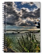 004 Peace Bridge Series II Beautiful Skies Spiral Notebook
