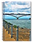 004 Stormy Skies Peace Bridge Series Spiral Notebook