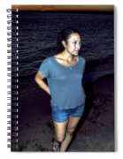 005 A Sunset With Eyes That Smile Soothing Sounds Of Waves For Miles Portrait Series Spiral Notebook