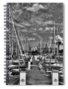 005bw On A Summers Day  Erie Basin Marina Summer Series Spiral Notebook