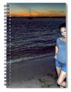 006 A Sunset With Eyes That Smile Soothing Sounds Of Waves For Miles Portrait Series Spiral Notebook