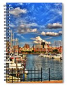 006 On A Summers Day  Erie Basin Marina Summer Series Spiral Notebook