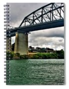 006 Stormy Skies Peace Bridge Series Spiral Notebook