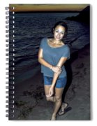 007 A Sunset With Eyes That Smile Soothing Sounds Of Waves For Miles Portrait Series Spiral Notebook
