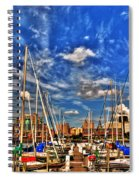007 On A Summers Day  Erie Basin Marina Summer Series Spiral Notebook