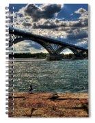 007 Peace Bridge Series II Beautiful Skies Spiral Notebook