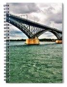 007 Stormy Skies Peace Bridge Series Spiral Notebook