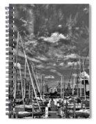 007bw On A Summers Day  Erie Basin Marina Summer Series Spiral Notebook