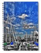 007sc On A Summers Day  Erie Basin Marina Summer Series Spiral Notebook