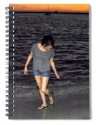 008 A Sunset With Eyes That Smile Soothing Sounds Of Waves For Miles Portrait Series Spiral Notebook