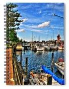 008 On A Summers Day  Erie Basin Marina Summer Series Spiral Notebook