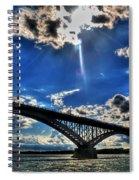 008 Peace Bridge Series II Beautiful Skies Spiral Notebook